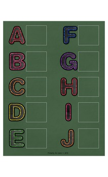 ABC Match-Up Upper Case File Folder or Cut & Paste Activity