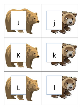 ABC Matching--Bears