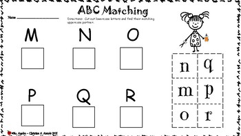 ABC Matching Cut and Paste Worksheet