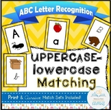 ABC Matching Flash Cards (Uppercase-lowercase Alphabet Recognition)