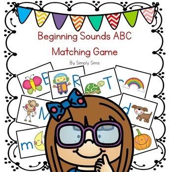 Beginning Sounds ABC Matching Game