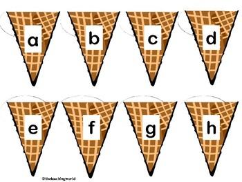 ABC Matching Ice Cream Scoops & Cones