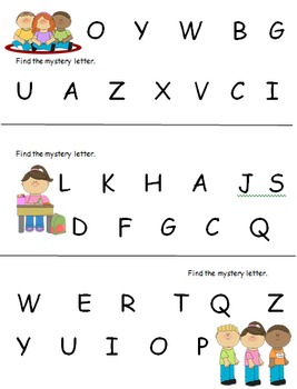 ABC Matching Practice:  Find the Mystery Letter