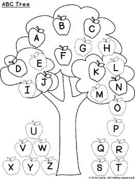 ABC Matching Tree Freebie!