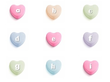 Valentine's ABC Matching- Uppercase/Lowercase