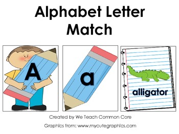 ABC Matching and Beginning Sounds Schooltime Literacy Activity Center