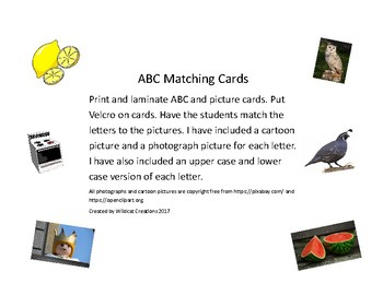 ABC Matching cards