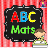 ABC Mats for Kindergarten in English and Spanish PLUS Number Mats