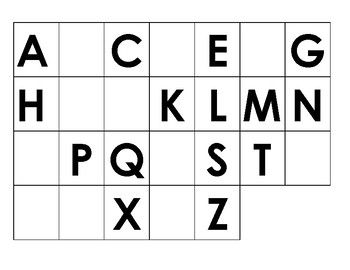 ABC Mats (fill in missing letters)
