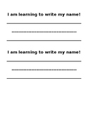 Learning to write my name