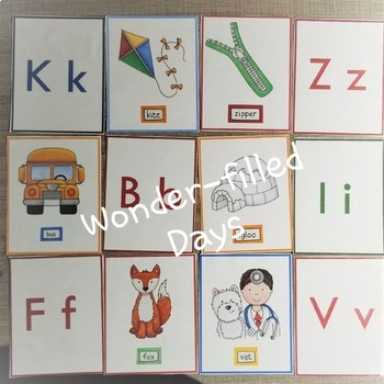 ABC Memory Match Game and ABC Tracing Cards- Manuscript and D'Nealian