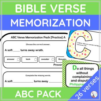 BIBLE VERSES Memory Practice Pack
