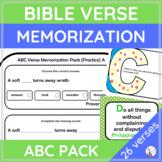ABC BIBLE VERSES Memorization Pack {Scripture}