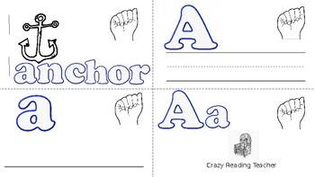 ABC Mini Book Letter A