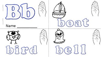 ABC Mini Book Letter B