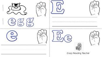 ABC Mini Book Letter E
