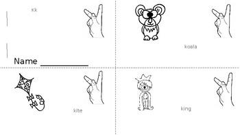 ABC Mini Book Letter K