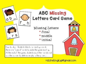 ABC Missing Letters Card Games