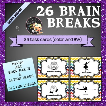Brain Breaks - ABC Taskcards Freebie