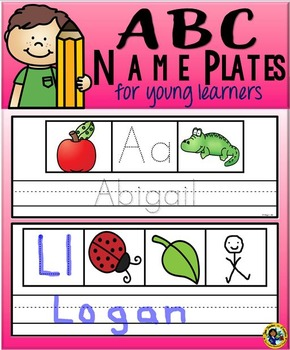 ABC Name Plates for Young Learners
