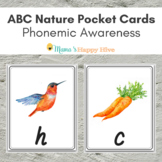 ABC Nature Pocket Cards for Phonemic Awareness