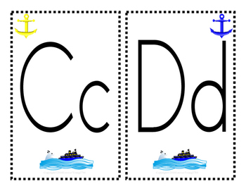 ABC... Nautical Theme Package