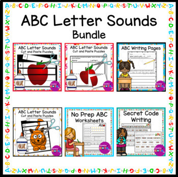 ABC No Prep Worksheet Bundle