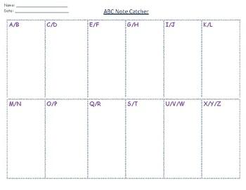 ABC Note Catcher
