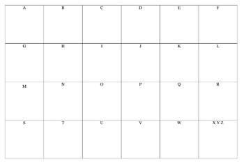 ABC Notes Sheet