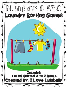 ABC & Number Laundry Sorting Games - A to Z & 1 to 20 - Pr