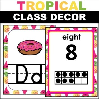 Pineapple ABC Number and Color Posters