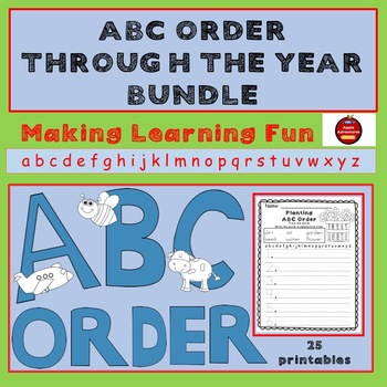 ABC ORDER THROUGH THE YEAR BUNDLE