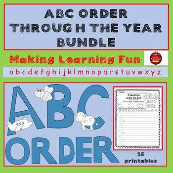 ABC ORDER THROUGH THE YEAR BUNDLE