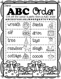 Christmas ABC Order Cut and Paste Activity