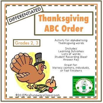ABC ORDER - November