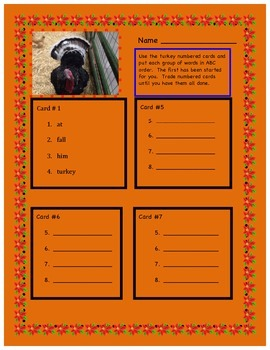 ABC ORDER WITH FALL AND SIGHT WORDS
