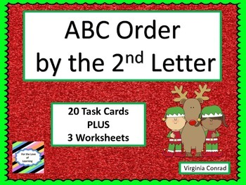 Alphabetical Order by the Second Letter---Christmas Theme