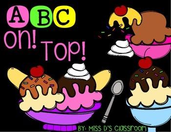 ABC On Top! A Letter Sounds Activity! FREEBIE