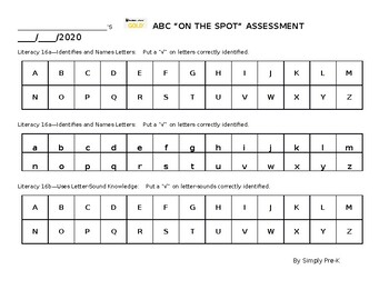 """ABC """"On the Spot"""" Assessment"""