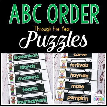 ABC Order Puzzles Through the Year