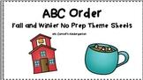 ABC Order No Prep Themed Sheets