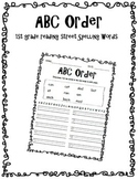 ABC Order - 1st Grade Reading Street