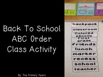 ABC Order activity