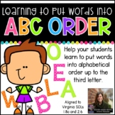 Learning to Put Words into ABC Order