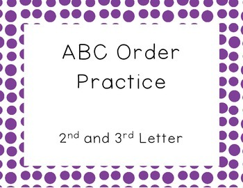 ABC Order- 2nd and 3rd Letter