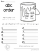 ABC Order 31 worksheets (no prep) Great for homework packets!