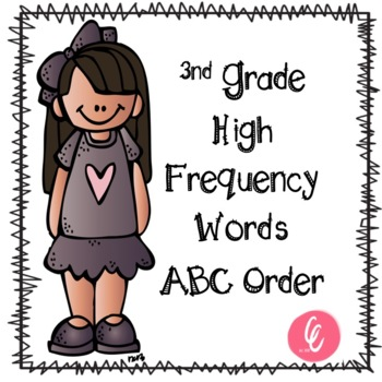 ABC Order - 3rd Grade High Frequency Words