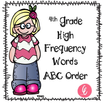 ABC Order - 4th Grade High Frequency Words