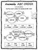 ABC Order 60 Worksheets Alphabetical Order UK spelling