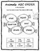 ABC Order 60 Worksheets Alphabetical Order US spelling